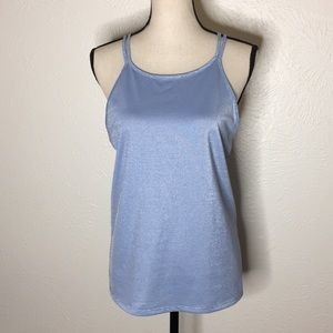 Gap Fit Baby Blue Large Crisscross Tank Top